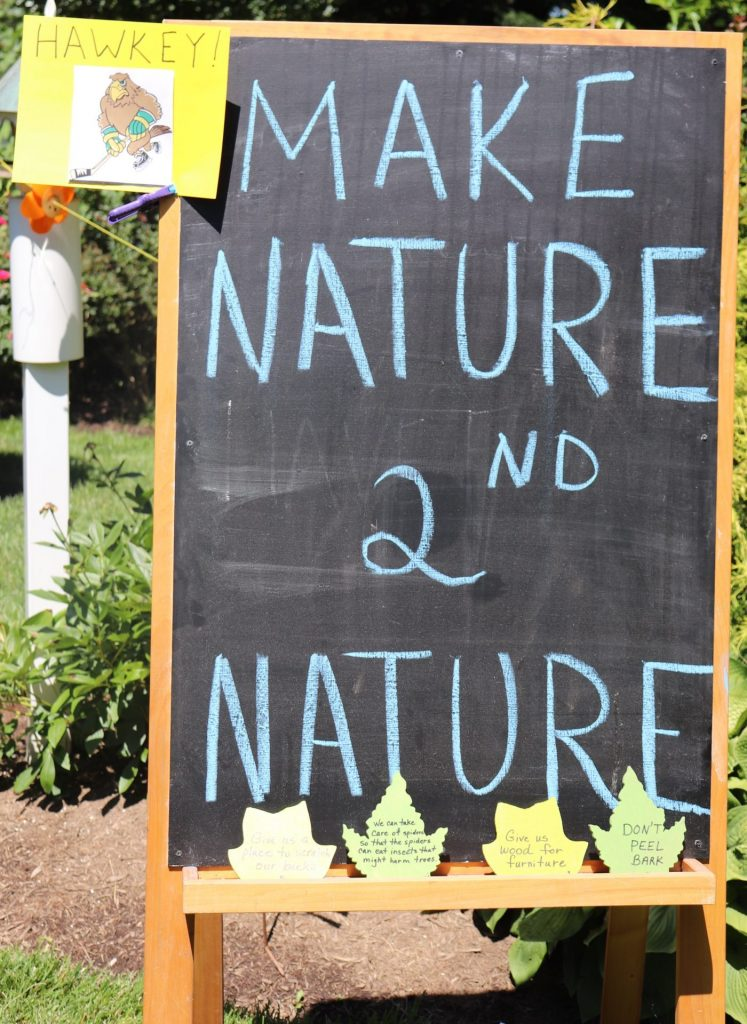 "chalkboard reading ""Make Nature 2nd Nature"""